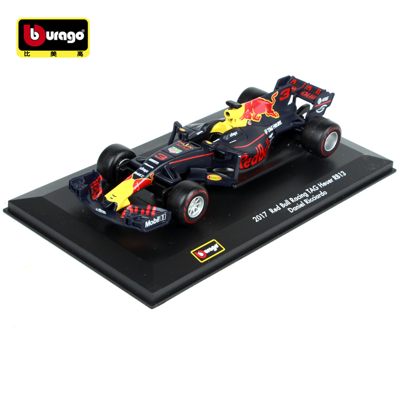 Bburago 1:32 2017 Red Bull Racing TAG Heuer RB13 F1 3# Daniel Ricciar 33# Max Verstappen Racing Diecast Model Car Toy