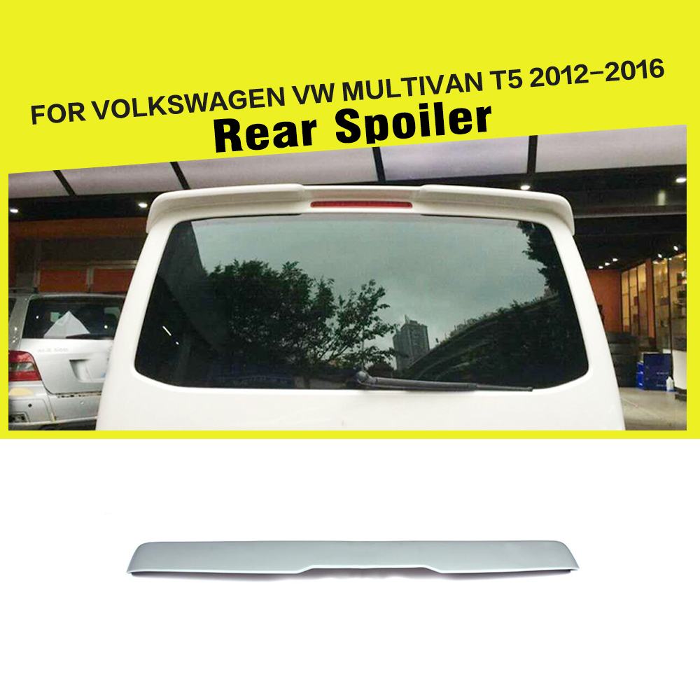 FRP Unpainted Primer Rear Top lip Wing Spoiler for Volkswagen VW Multivan T5 2012-2016 passat cc frp primer rear trunk lip spoiler wing for volkswagen vw cc 2010 2015