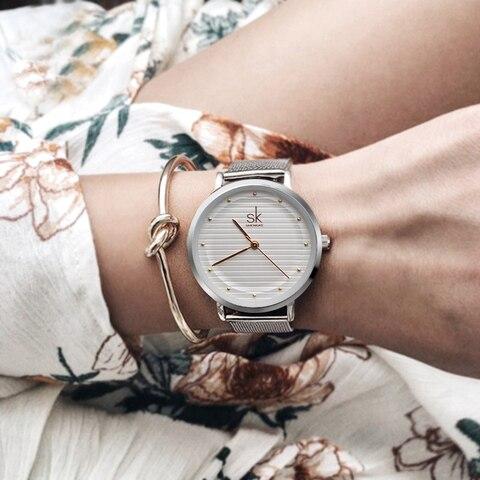 Shengke Luxury Quartz Women Watches Stainless Steel Ladies Wrist Watch Reloj Mujer 2019 SK Cheap Fashion Watches For Women Multan