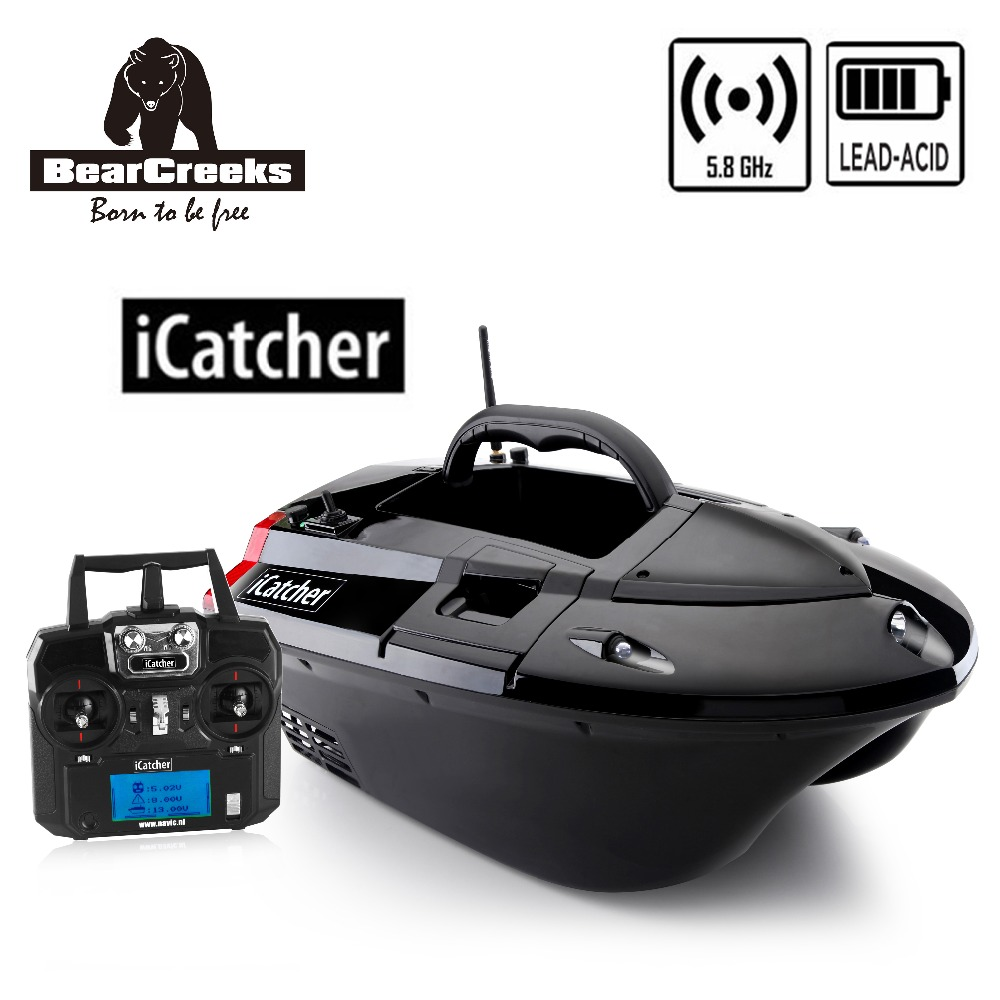 BearCreeks iCatcher V3 carpe appât de pêche bateau avec batterie au plomb 500 M RC télécommande Explosion crochet 4000G leurre charge