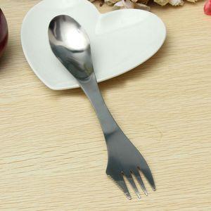 Image 5 - Yaratıcı tasarım 3 in 1 mutfak sofra paslanmaz çelik Sporks çatal kaşık erişte salata meyve sofra