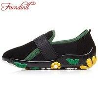 Ladies Luxury Brand Shoes Cozy Round Toe Suede Leather Flats Black Shoes Women Flats Fashion Cut