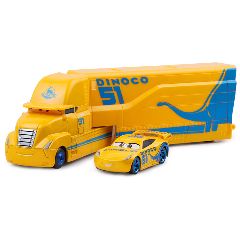 Дисней Pixar Тачки 2 3 игрушки Молния Маккуин Джексон шторм мак грузовик 1:55 литая модель автомобиля игрушка детский подарок на день рождения - Цвет: Two cars L
