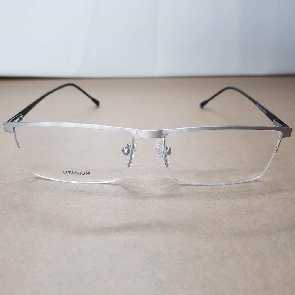High Quality Business Fashion Half rim Light Frame Custom Made Prescription Glasses Photochromic Grey Brown Myopia Near sighted in Men 39 s Prescription Glasses from Apparel Accessories