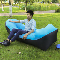 Kishoo Brand Camping Lazy Bag Lay Bag Sleeping Bag Fast Inflatable Air Sofa Sleeping Beach Bed