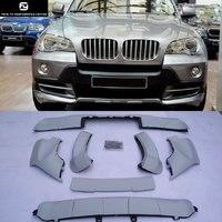 X5 E70 PP Авто набор внешних комплектующих к автомобилю переднего бампера для губ задний бампер диффузор для BMW E70 X5 07 11