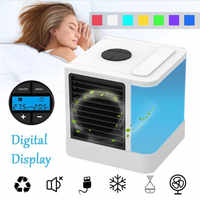 Mini enfriador de aire Personal y humidificador aire acondicionado portátil USB dispositivo ventilador de mesa silencioso 7 luces de Color aire acondicionado WT-303