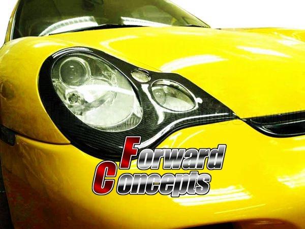PARA FIBRA DE CARBONO 01-05 996 911 CARRERA Párpados FAROS FAROS - Autopartes