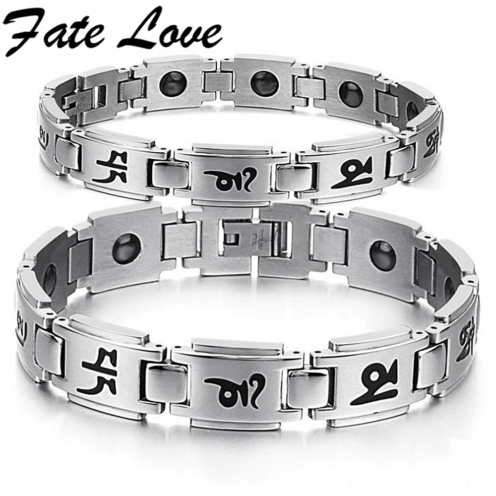 e33a1343a874 (Min orden 10  ) imán pulsera moda joyería religiosa energía pulseras  magnéticas 13mm cristianos equilibrio saludable bracelet3141