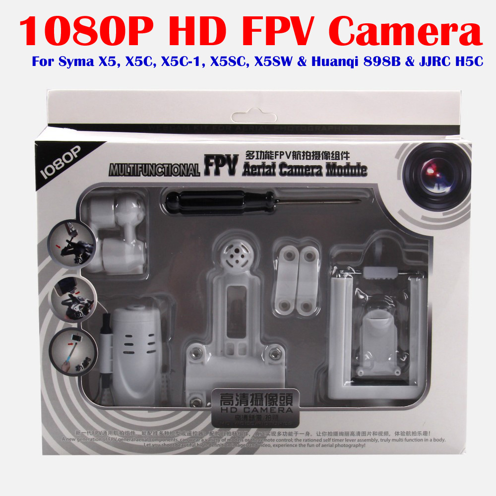 HD 1080P 2.0MP WiFi FPV Camera for Syma X5HW X5HC X5C X5 X5SC X5SW HQ 898B RC Drone Quadcopter With Phone Holder Spare Parts syma x5c x5sc x5hc x5hw spare parts universal aerial camera 4g memory card card reader set