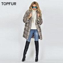 TOPFUR 2018 New Type Slim Long Real Fur Coat Women Fashion Winter Warm Fur Coat Without Hood Customized Luxury Mink Fur Outwear