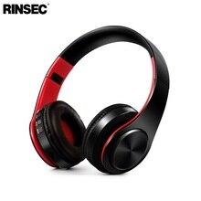 Rinsec Bluetooth наушники оголовье Беспроводной гарнитура складная Дизайн с микрофоном Музыка играет