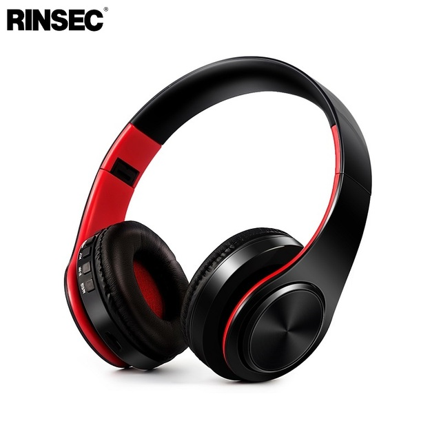 Rinsec Bluetooth Headphone Headband Wireless Headset Foldable Design with Microphone Music Playing