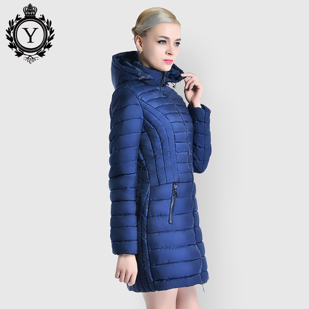 Quilted Down Cotton Padded Winter Jackets and Coats Women Parkas Long Thicken Hooded Slim Warm Coat 2019 COUTUDI New Collections
