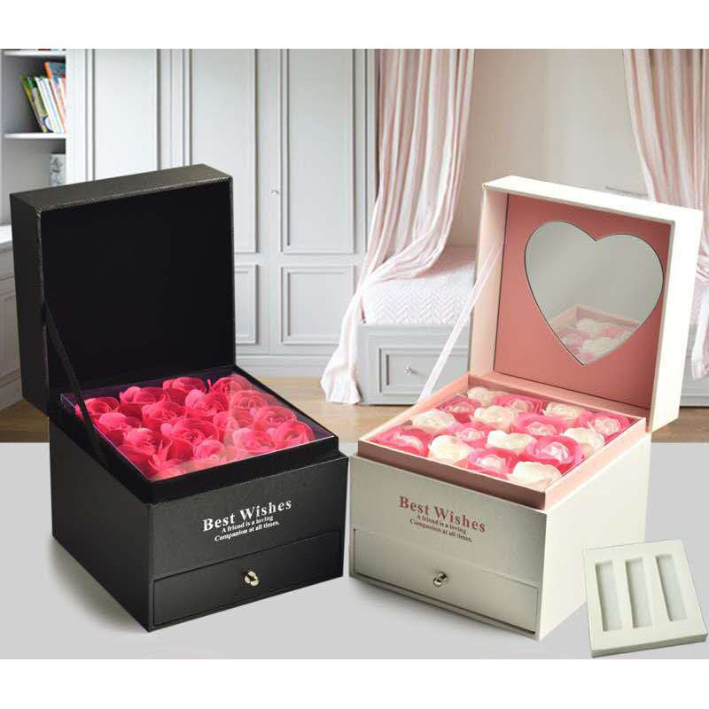 Rose gift box, Valentine's Day friends exquisite lipstick box gift,