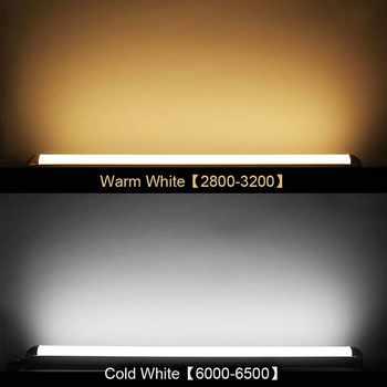 2PCS/LOT3000K 4000K 6000K LED Tube Light Tube LED 30cm 60cm 90cm 120cm Wall Lamp Bulb Light Lampara 10W 20W 30W 40W Home Kitchen
