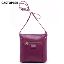 First Layer of Cowhide Genuine Leather Handbags Retro Bags Messenger Vintage Fashion Women Messenger Ladies Bag Crossbody Female