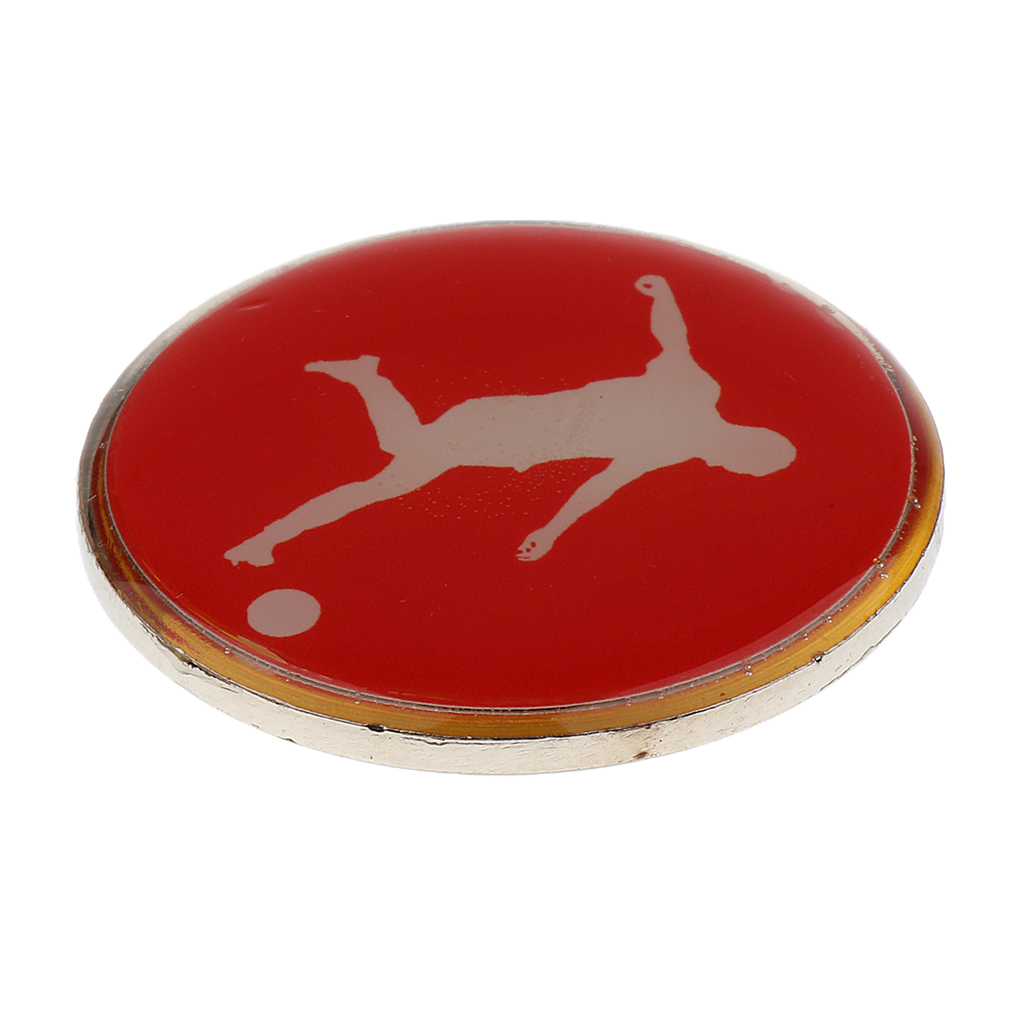 Durable Metal Rubber Football Soccer Referee Flip Toss Coin 3.5cm Diameter Team Sports for Soccer Football Badminton Table Tenni