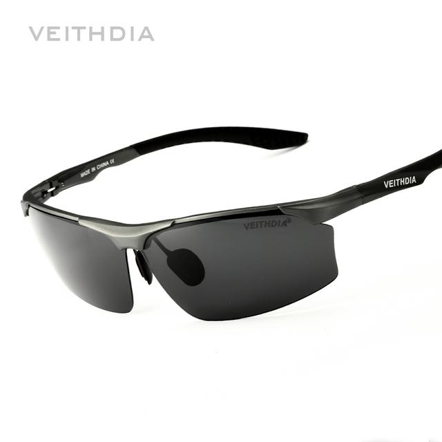 De aluminio Y Magnesio Marca Polarizerd Vidrio De Sol de Conducción Espejo Gafas de Sol Del Deporte Del Mens para Los Hombres oculos masculino Masculino 6576