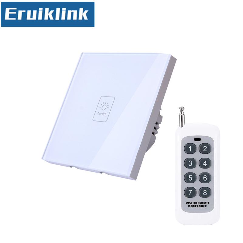 EU/UK Standard 1/2/3 Gang Wireless Remote Control Light Switches,RF433 Smart Home Remote Control Wall Touch Switch igreli new touch switch wireless remote control for intelligent wall free sticker switches free wiring to receive rf433 signals