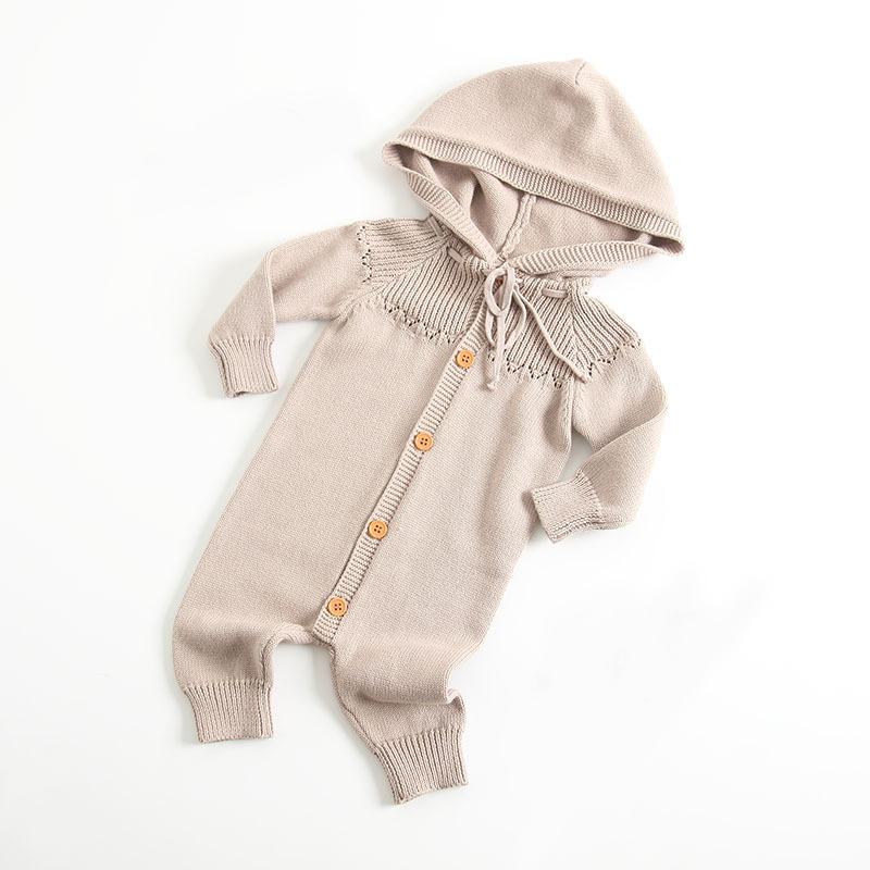 Baby Rompers Newborn Autumn Long Sleeves Overalls for Toddler Girls Jumpsuits 100%Cotton Knitted Infant Boys Outfits One Pieces