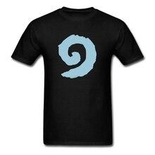 Einzigartige Kurzarm Bio-baumwolle Hearthstone Swirl Logo Männer DJ T-shirt XXXL Männlichen T-shirt
