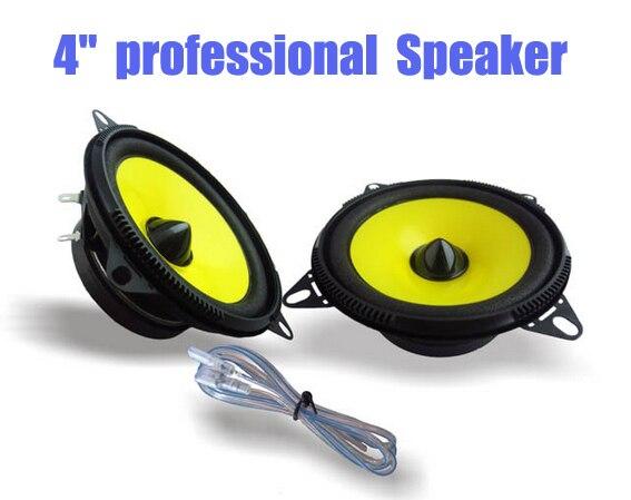 2016 1 Pair 4 inch Car Speaker Automobile Automotive Car HIFI Full Range Bubble Gum Edge