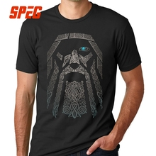 SPEG T Shirts Gorgeous Men Boy 100% Cotton Tee Short Sleeve Odin Vikings Group Tops Clothing T-Shirts O Neck