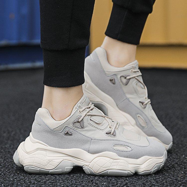 Мужские кроссовки на платформе; кроссовки для мужчин; chaussure Homme; обувь для папы; белые массивные кроссовки; мужские кроссовки; вулканизированные