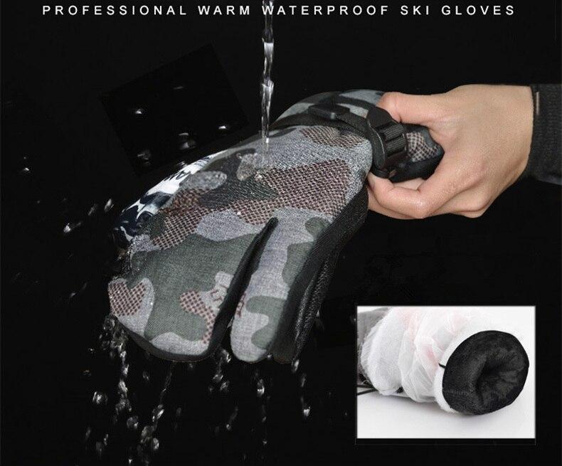 LTVT marque femmes/hommes gants de Ski Snowboard gants moto équitation hiver nouveaux gants imperméable unisexe neige gants - 5