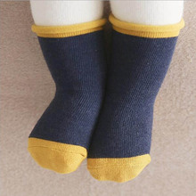 0-2 Years Old Thin Comfortable Baby Socks Pure Color Cotton Children's Hosiery Cartoon Infant Non-Slip Socks