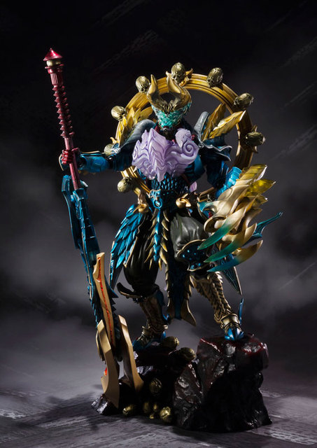 "Original BANDAI Tamashii Nations S.H.Figuarts (SHF) Tamashii MIX Action Figure - Jashin Kakusei Zinogre from ""Monster Hunter"" 4"