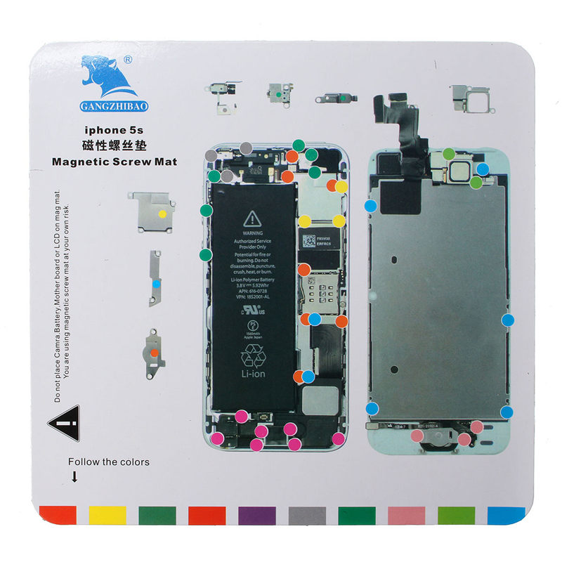 High Quality Professional For Iphone 6 Plus 6s 6 5s 5 Magnetic Screw Chart Mat Magnetic Lcd Screen Tepair Tool