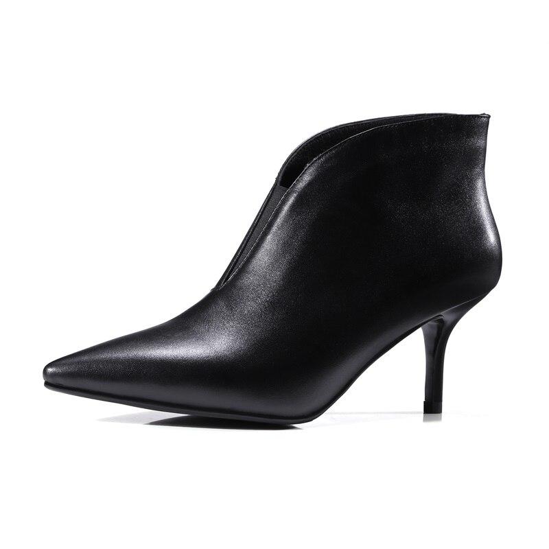 Mujeres Carrera De Calidad Zvq Moda Alta green Vaca Genuino Mujer Black Alto Cuero Botas Zapatos Las Punta Nuevo Tacón Moderno 2018 Conciso g50Uq