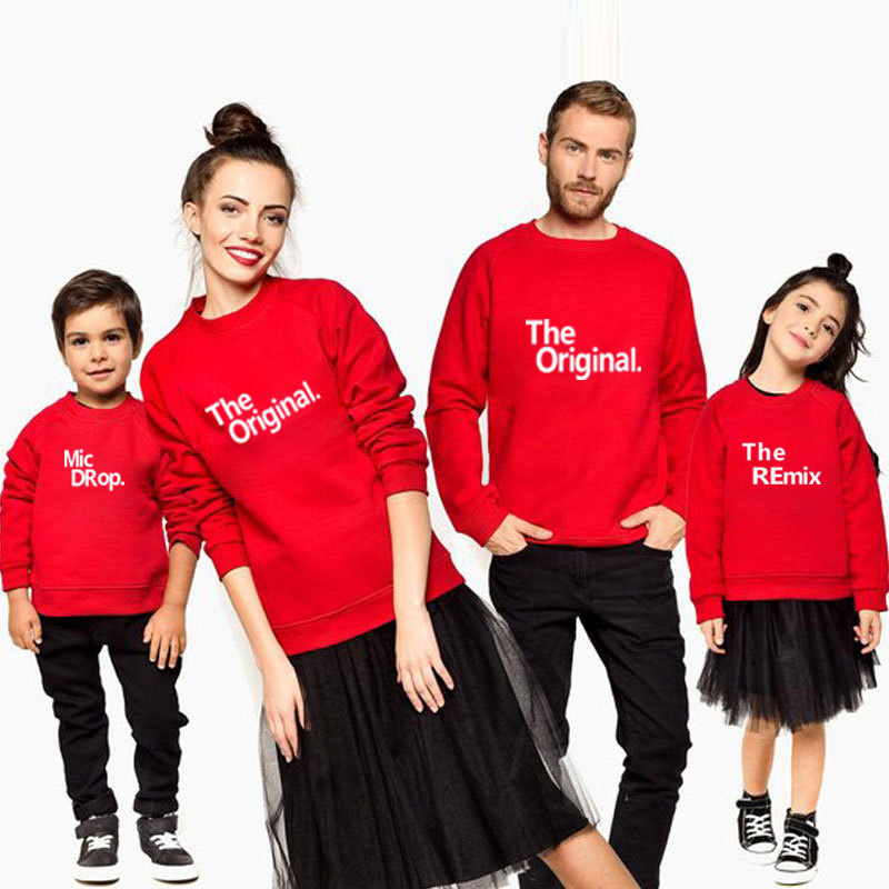 Family Look Autumn Winter Fashion Family Matching Outfits Letters Printed Family Long Sleeved T Shirts Father And Son Clothes December 2020