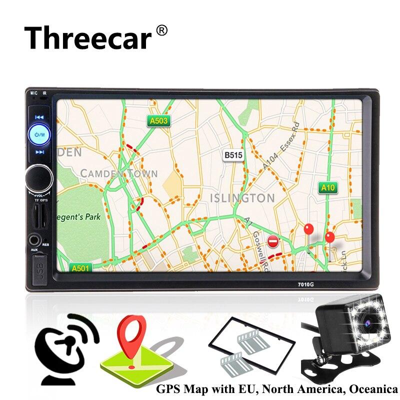 2 din navegación GPS Autoradio coche Radio reproductor Multimedia Cámara Bluetooth de enlace Android volante de dirección de Audio estéreo de Radio