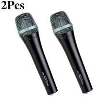 2Pcs e 945 Professional Handheld Supercardioid Vocal Dynamic Microphone Karaoke System For e945 DJ Mixer Singing Moving coil Mic
