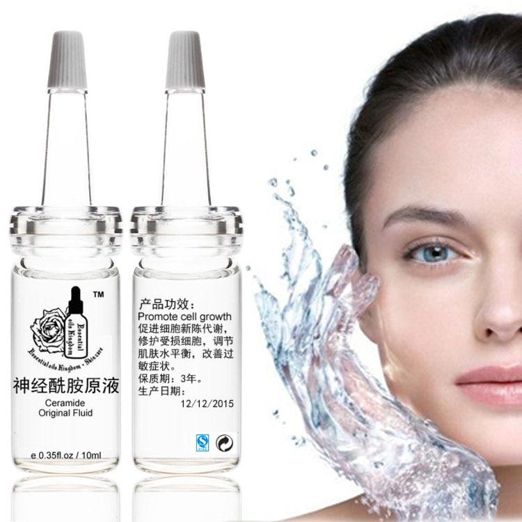 Ceramida original fluido antialérgico, reparación de células, eliminar enrojecimiento, arrugas, pecas 10 ml * 2 piezas