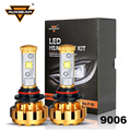 Auxbeam Cree SMD Chips 9006/HB4 Car Headlight Bulbs with Canbus 60W/pair Gold Aluminum SUV Refitment HB4 Fog Lamps + Cooling Fan
