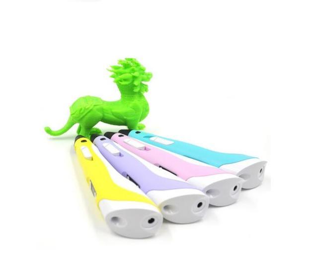 Niños 3D Primera Generación Pluma de Dibujo Del Doodle Hacer Plástico Con ABS/Filamento Juguetes Mágicos Del Envío Boquilla Impresora Lcd Tablet juguetes