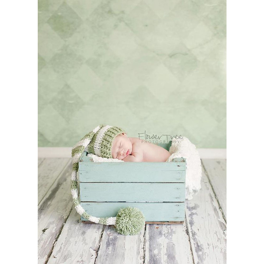 NeoBack Vinyl Green faded wall patterns backgrounds for new born baby children wall wood Printed Studio Photo Backdrops P0629