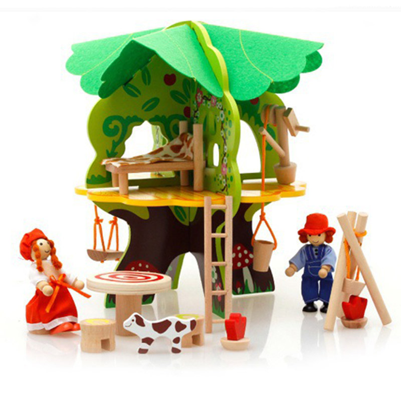 kids pretend play toys furniture for dolls wooden miniature dollhouse tree house with doll children doll room educational toy cutebee pretend play furniture toys wooden dollhouse furniture miniature toy set doll house toys for children kids toy