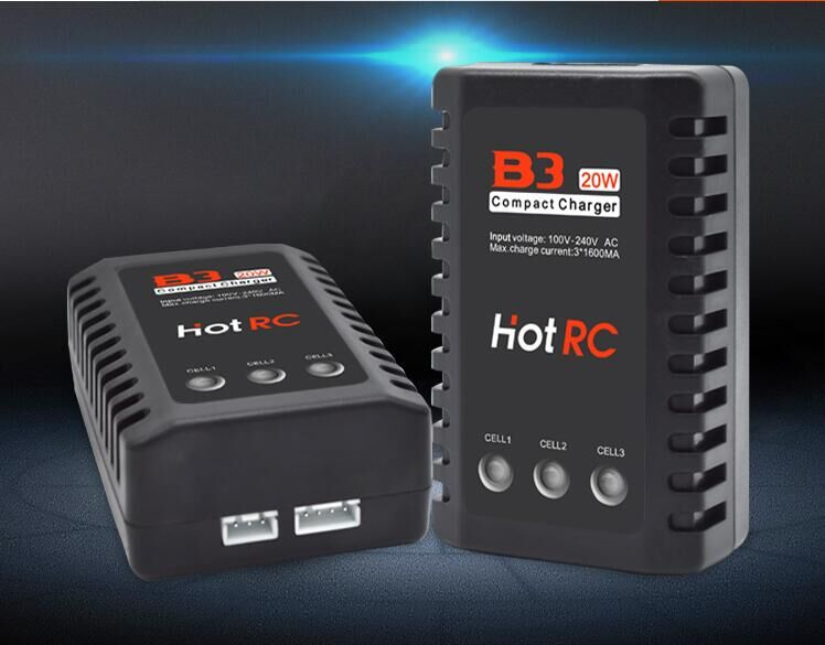 HOTRC 20W  Power B3 Model Aircraft Lithium Battery Balance Charger 2 s 3 s /7.4V 11.1V  Quick Charger yokatta model 19 6x15 4x108 et27 d65 1 w b