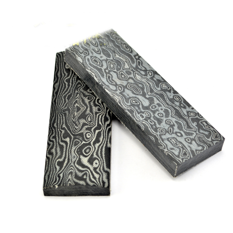2pcs Micarta Template Board Sheet Damascus Canvas texture For DIY Knife handle Craft Supplies 120x40x10mm black micarta