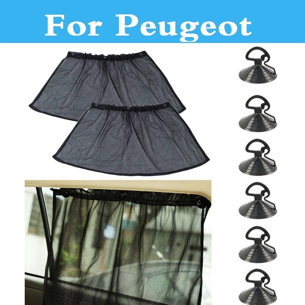 Réglable De Voiture Parasol Maille Rideau Ventouse Protection UV Pour Peugeot 308 GTi 4007 4008 407 408 508 607 iOn RCZ
