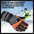 3.7 V 2000 MAH USB eléctrica guantes térmicos, exterior Ski Sport batería de litio calentamiento espontáneo, 5 FingersHeating caliente termostática 4 hrs