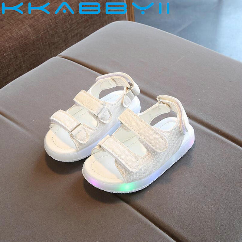 New Summer Kids Led Glowing Sandals Boys Girls Sport Casual Light Shoes Children Baby Flat Shoes Kids Beach Sandal