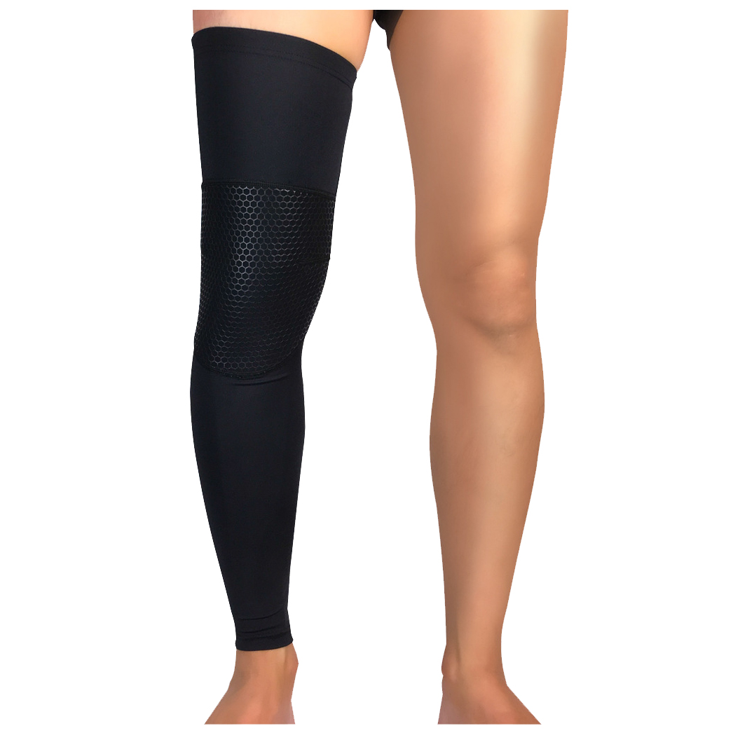 89cc95ec67 Detail Feedback Questions about Unisex Running Basketball Sports Compression  Knee Leg Calf Support Stretch Brace Long Sleeve Protector Wrap on ...