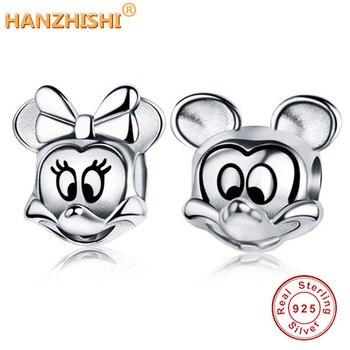 d185292cba79 Minnie, encantos 100% Original auténtico 925 cuentas de plata Fit Pandora  Charms pulseras y ...