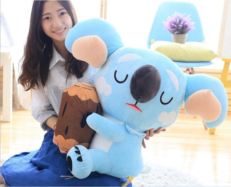 big new creative soft koala toy lovely plush blue koala doll gift about 60cm about 60cm creative prone cat doll plush toy soft throw pillow christmas gift x071